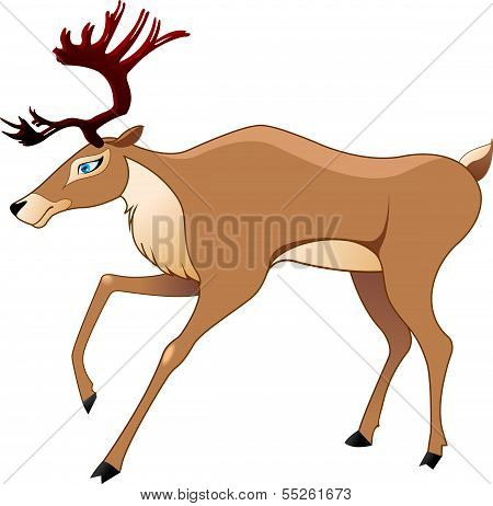 The figure of the deer in a vector