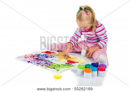 Painting with fingers