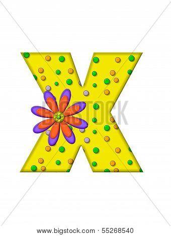 Alphabet Zany Dots X