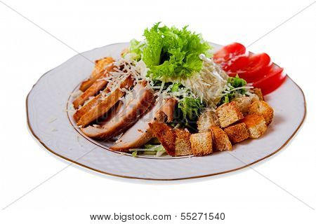 meat with rusk and tomato