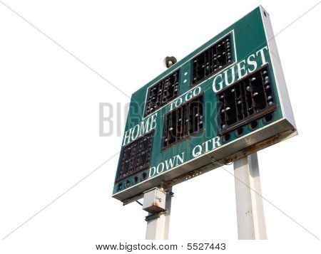 High School Scoreboard Isolated