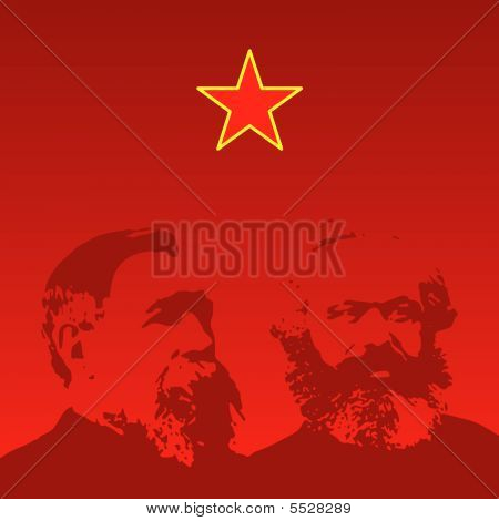 Marx And Engels Portraits