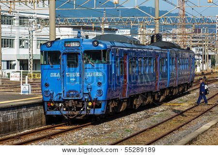 Seaside Liner at Nagasaki Station