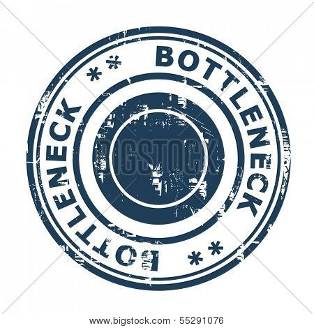 Bottleneck concept stamp isolated on a white background.