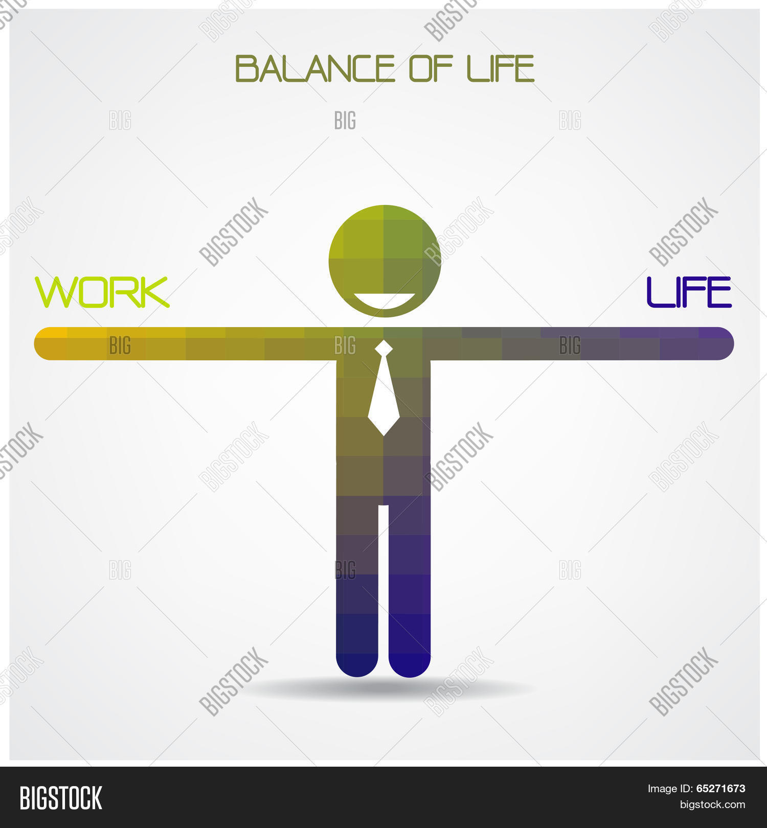 Balance scale between work life vector photo bigstock balance scale between work and life ideawork and life balance conceptbusinessman sign biocorpaavc Images