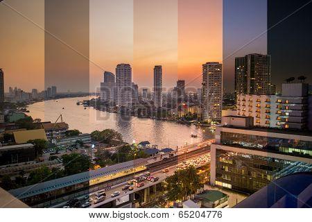 Evening Time In Bangkok Concept