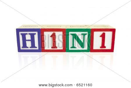 H1N1 Alphabet Blocks With Reflection