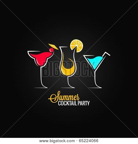 cocktail summer party design menu background