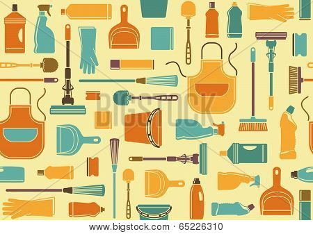 Seamless background of cleaning