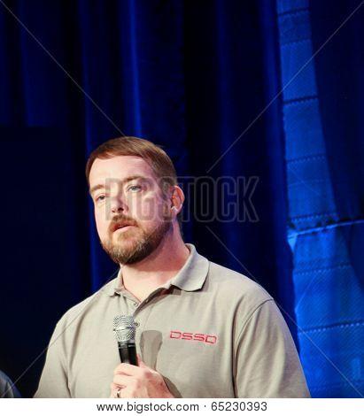 Las Vegas, Nv - May 5, 2014: Dssd Ceo Bill Moore Makes Speech At Emc World 2014 Conference On May 5,