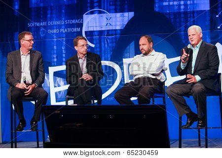 Las Vegas, Nv - May 6, 2014: David Goulden, Pat Gelsinger, Paul Maritz And Joe Tucci (left To Right)