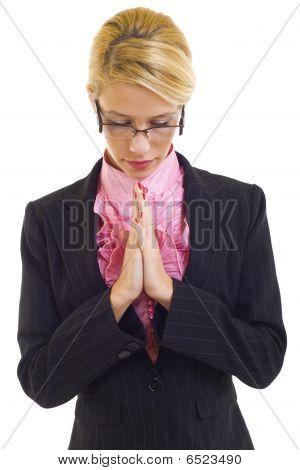 Young Business Woman Praying