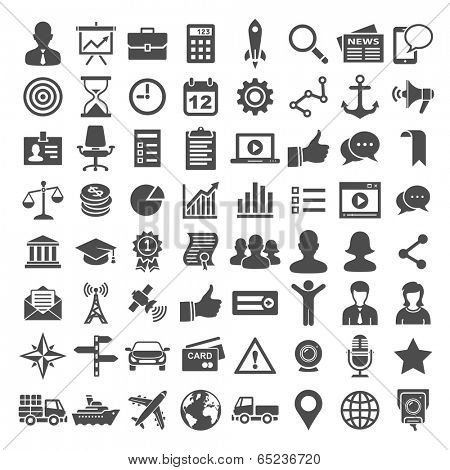 Universal Icons. Business, financial and social icons. Simplus series