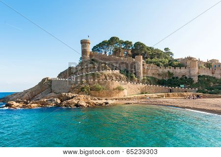 Medieval Castle In Tossa De Mar, Spain