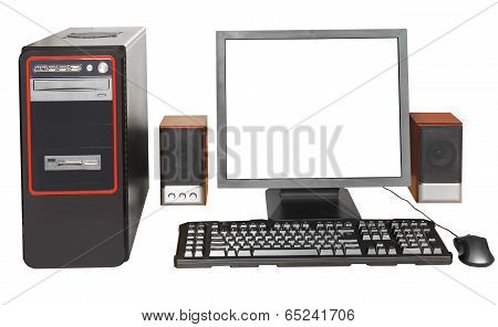 Desktop Computer With Cut Out Display