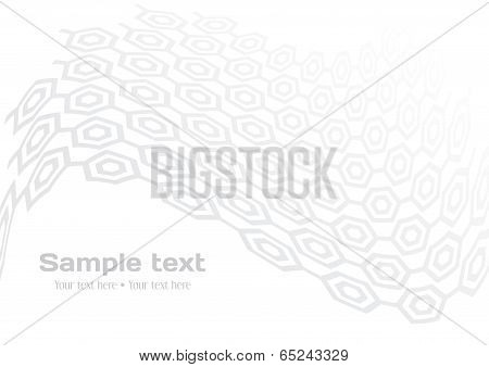 White Background With Gray Hexagon Elements