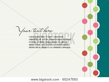 Background With Abstract Elements