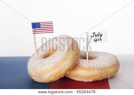 Donuts With July 4Th
