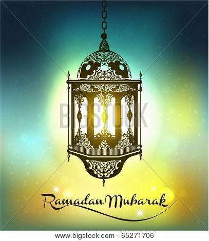 Ramadan Mubarak Background.Vector
