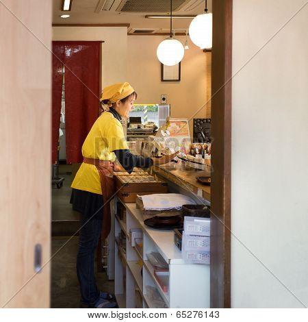 Japanese sweet shop in Kamakura Japan
