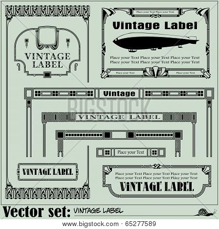 Border style labels on different topics for decoration and design poster