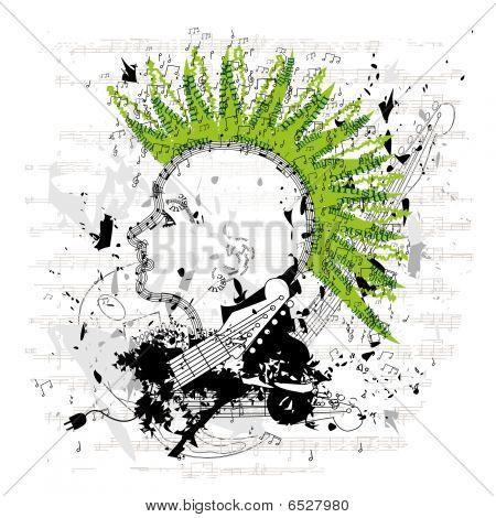 Grungy Punk/emo Vector