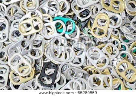 Closeup Plenty Of Ring-pulls