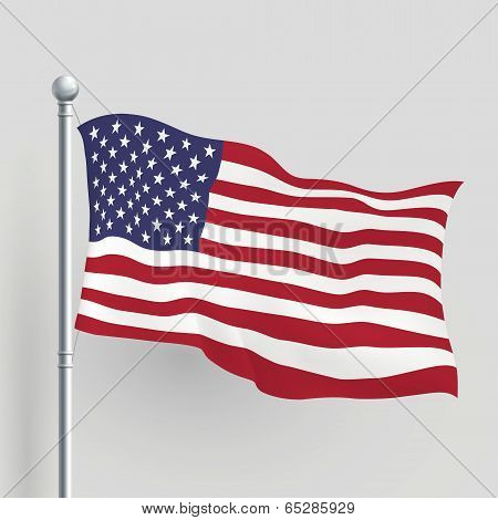 3D Vector American Flag