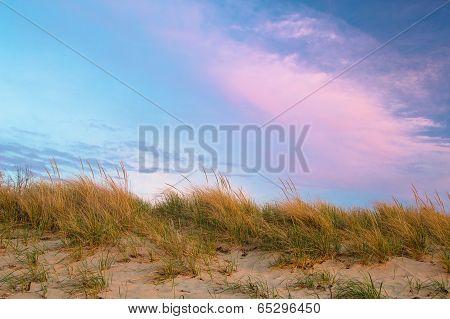 Sand Dune And Blue Sky