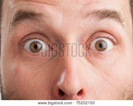 Mature Caucasian Man, Closeup, Surprised Look
