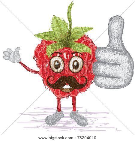 Raspberry Fruit Mustache