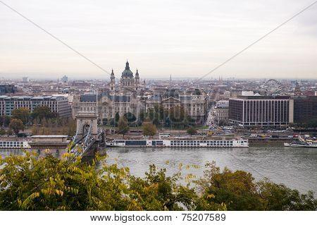Budapest Chain Bridge on the Danube