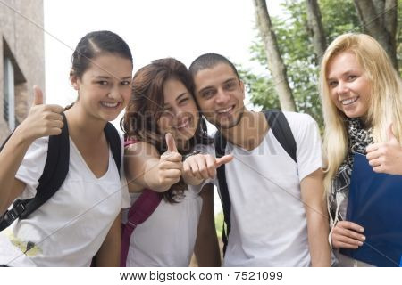 Group of students ready for school
