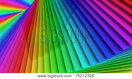 Colorful Rainbow Sprial Abstract Background Of Stacked Glass Planes