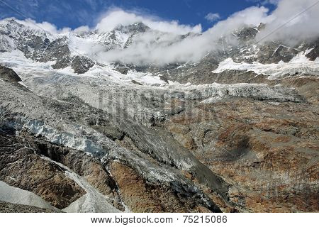 Fee Glacier with Mischabel Group
