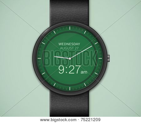Smart watch interface template. Smartwatch mockup. Vector illustrations