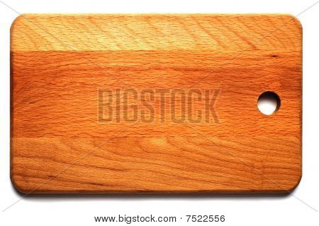 Hardboard The Top View Isolated On A White Background