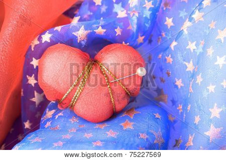 Red Heart Struck With Pin