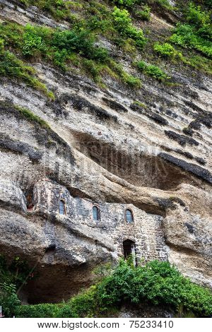 Catacombs carved into the rocks of Monchsberg in Salzburg, Austria, Europe