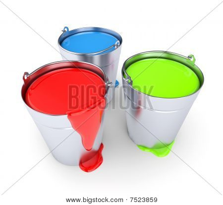 Rgb - Buckets With A Paint