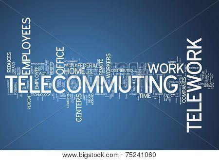 Word Cloud Telecommuting