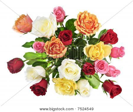 Bouquet Of Roses From Above