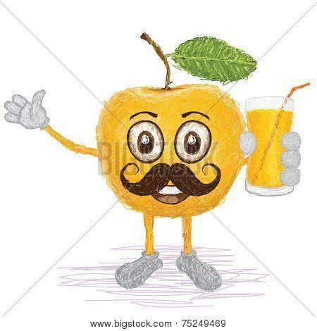 Yellow Apple Mustache