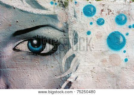 Beautiful, Colorful Graffiti Art, Vietnam Street