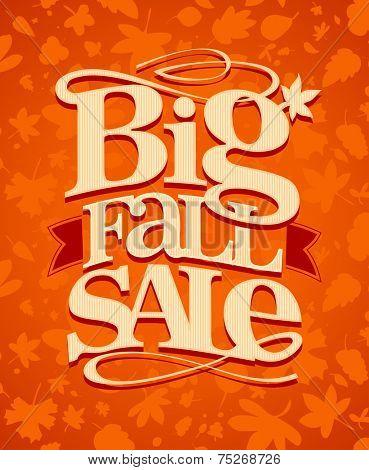 Big fall sale vintage design.