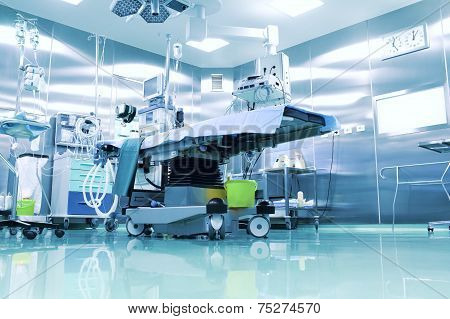 Operating Room With Modern Equipment.