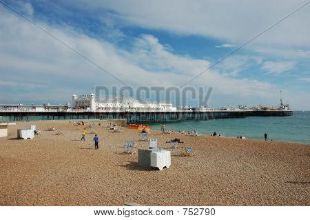 The Palace Pier in Brighton UK