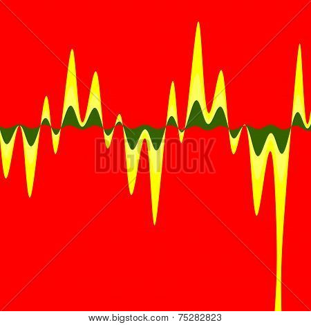 Sound Wave Background Theme - Red Colour Art