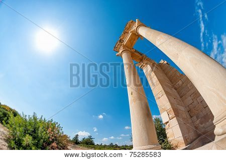 Ruins Of The Sanctuary Of Apollo Hylates - One Of The Most Popular Touristic Place In Cyprus