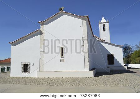 A view of the parish church in Salir Portugal